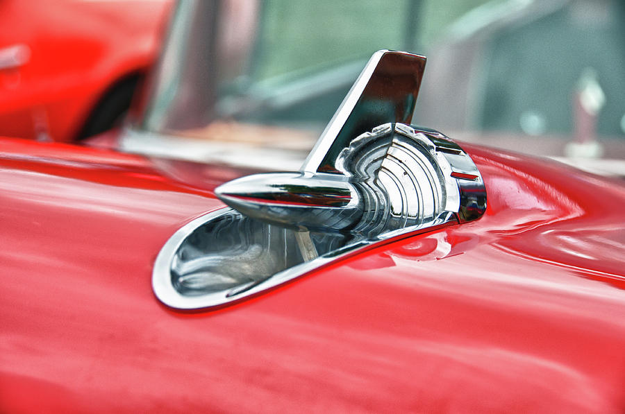 Automobile Photograph - 57 Chevy Hood Ornament 8509 by Guy Whiteley