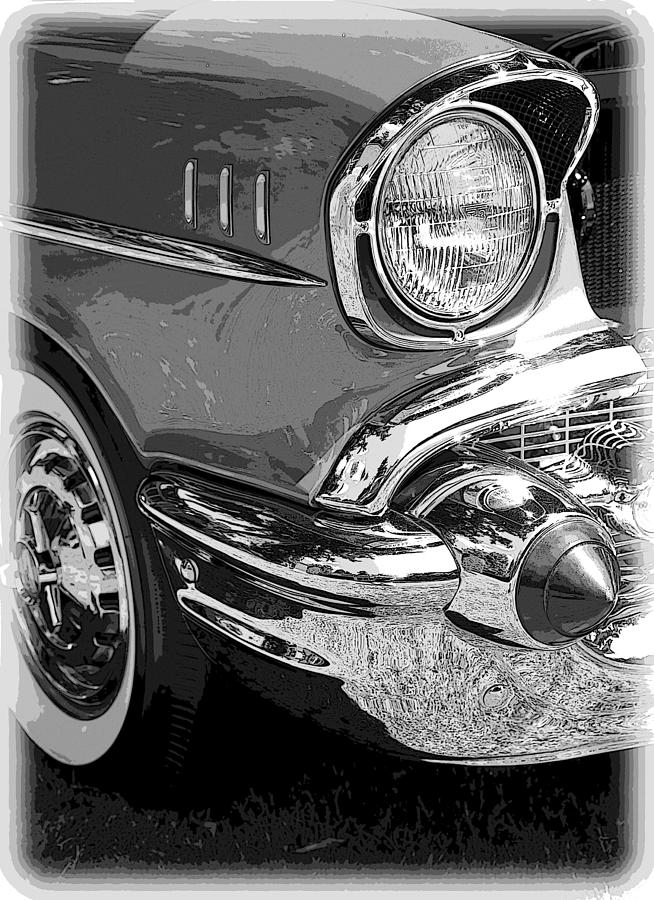 Hot Rod Photograph - 57 Chevy  by Steve McKinzie