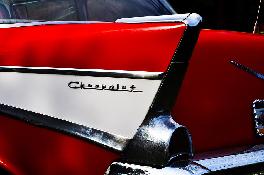 57 Chevy Tailfin Photograph By Bill Cannon