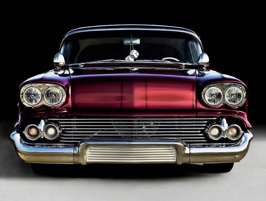 58 Impala Custom Digital Art By Douglas Pittman