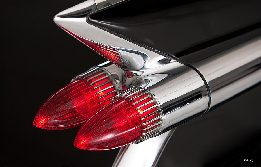 59 Cadillac Tail Light Photograph by Kevin Moody