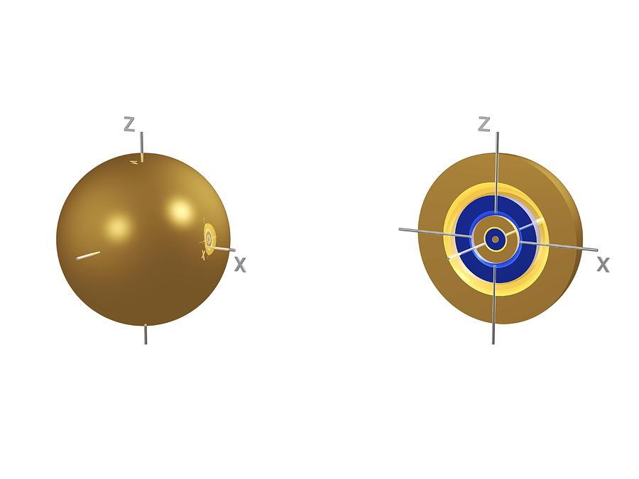 Orbital Photograph - 5s Electron Orbital by Dr Mark J. Winter
