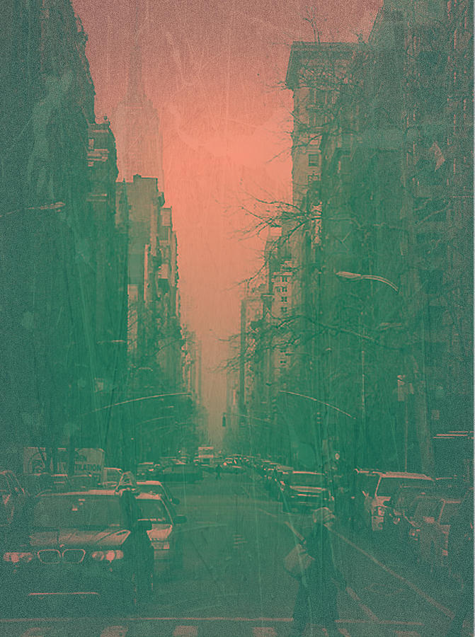 New York Photograph - 5th Avenue by Naxart Studio