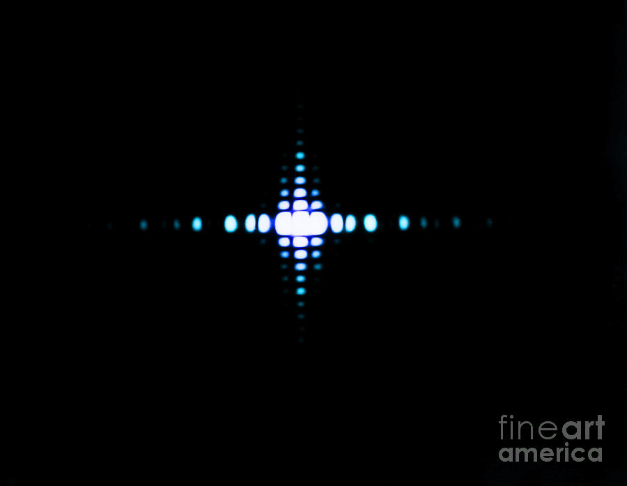Diffraction Photograph - Fraunhofer Diffraction by Omikron