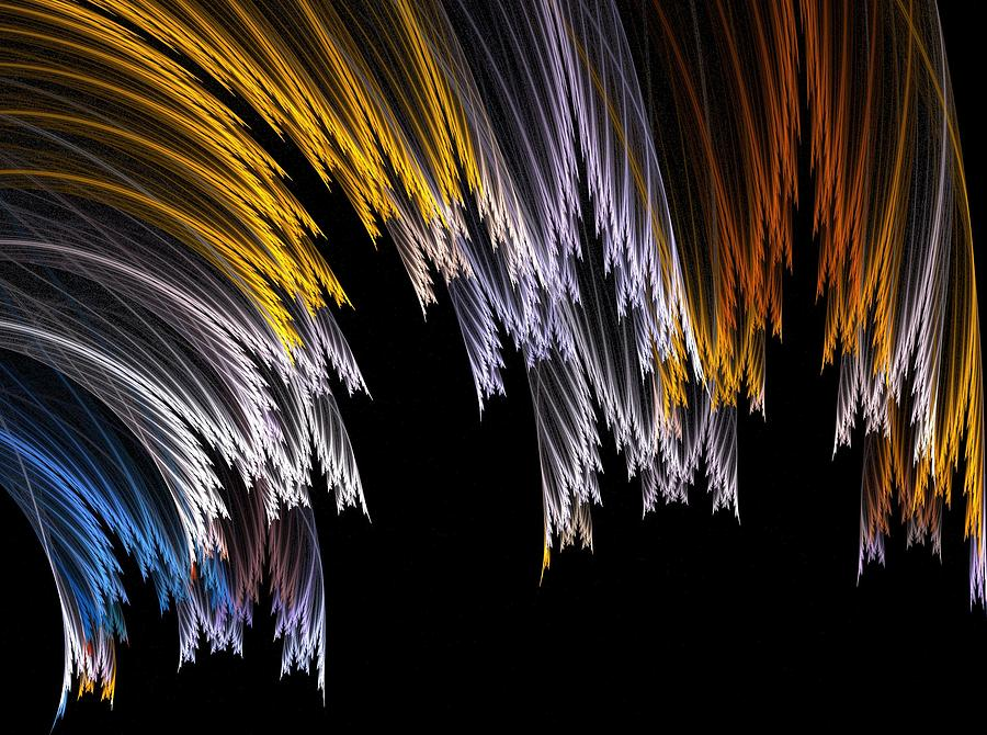 Fractal Flame Digital Art - Grass by Michele Caporaso