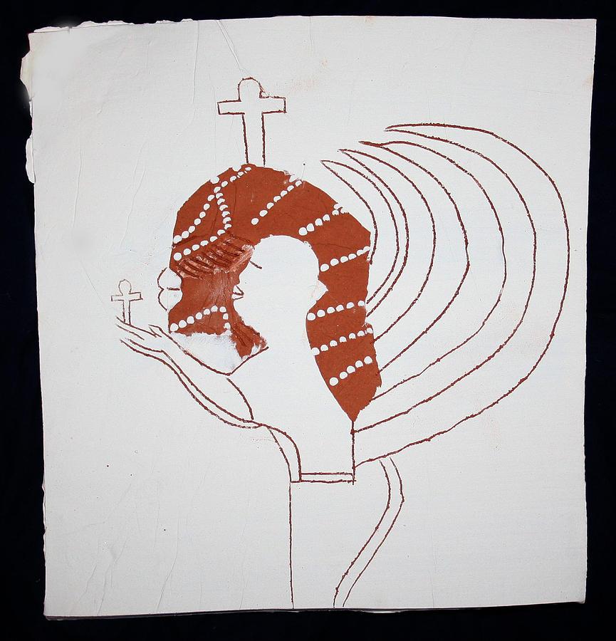 Jesus Ceramic Art - Guardian Angel by Gloria Ssali