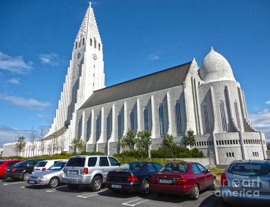 Hallgrimskirkja Photograph - Hallgrimskirkja Church - Reykjavik Iceland  by Gregory Dyer