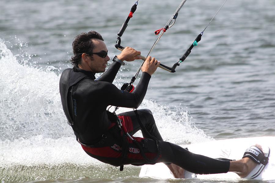 Kite Boarding Photograph - Kite Boarding by Jeanne Andrews