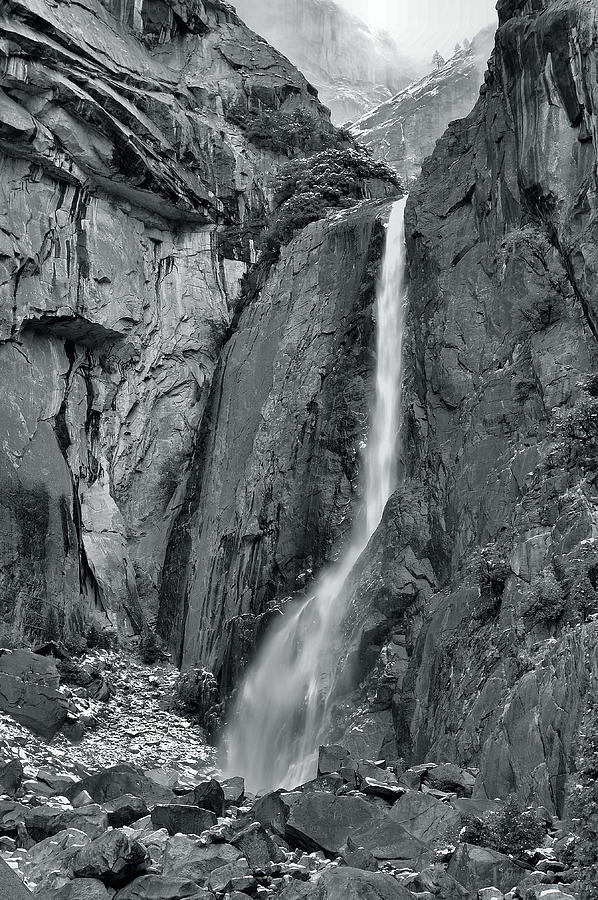 Waterfall Photograph - Lower Yosemite Falls by Stephen  Vecchiotti