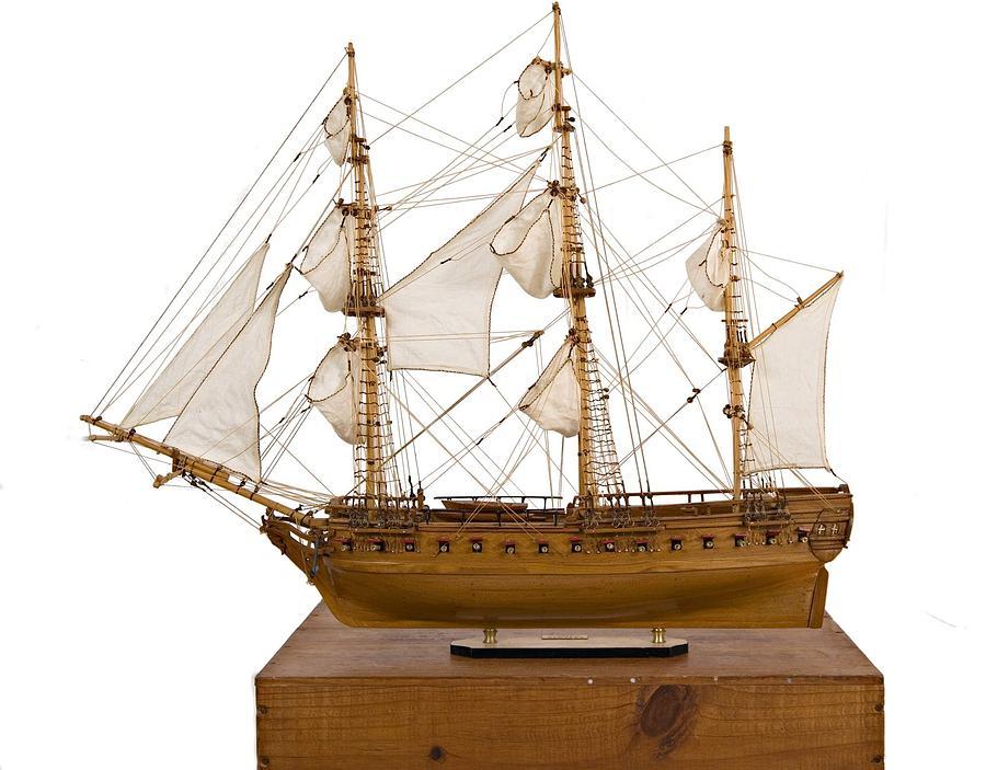 Sculpture - Model Ship by Louis Nanette