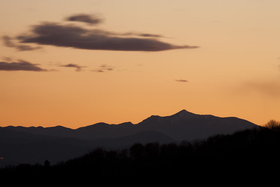 Mountains Photograph - Mountain Sunset by Ian Middleton