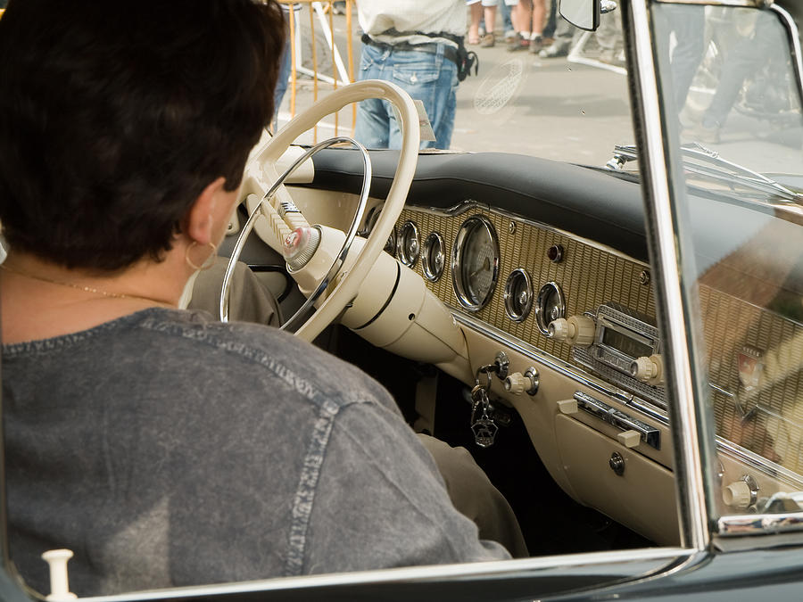 Old Photograph - Old Car by Odon Czintos