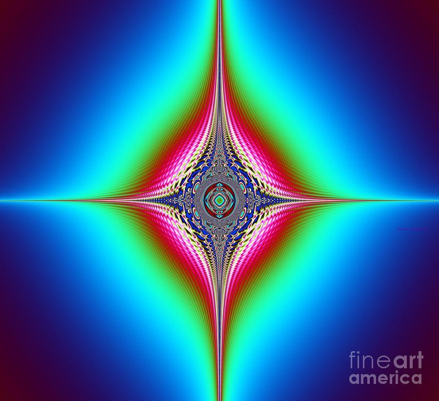 Print Canvas  Mixed Media - Planetary Star Rings by Deborah Juodaitis