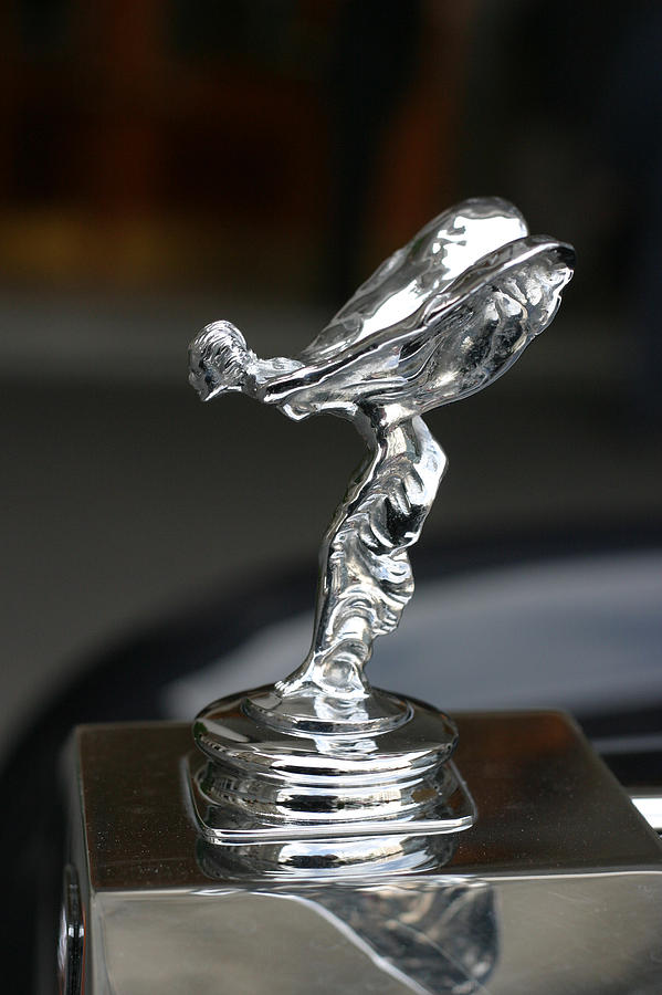 Luxury Photograph - Rolls Royce Hood Ornament by Carl Purcell