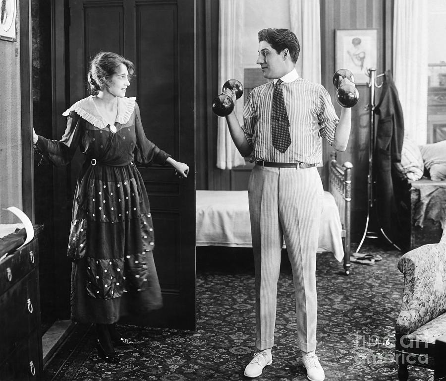 1920s Photograph - Silent Still: Exercise by Granger