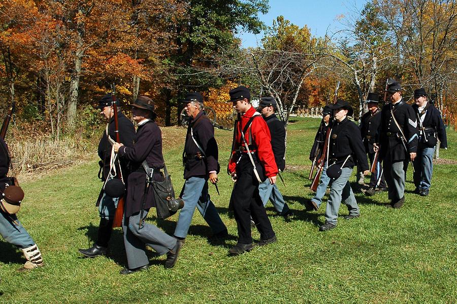 Usa Photograph - Soldiers March by LeeAnn McLaneGoetz McLaneGoetzStudioLLCcom