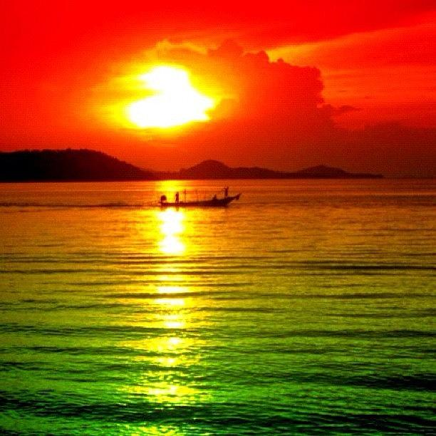 Scenery Photograph - Tropical Sunset by Luisa Azzolini