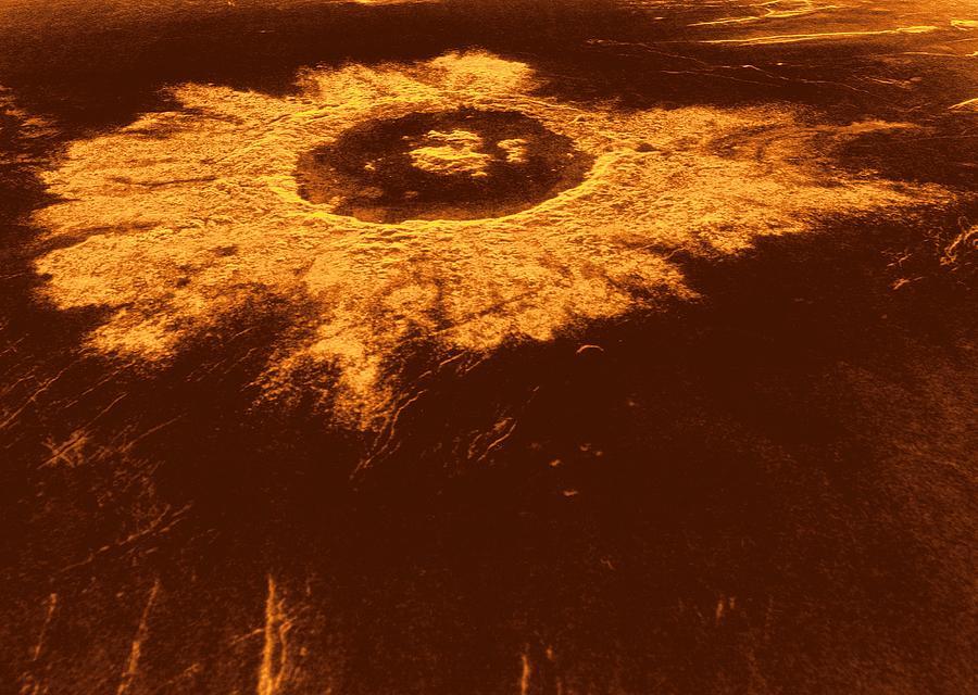 20th Century Photograph - Venus, Synthetic Aperture Radar Map by Detlev Van Ravenswaay