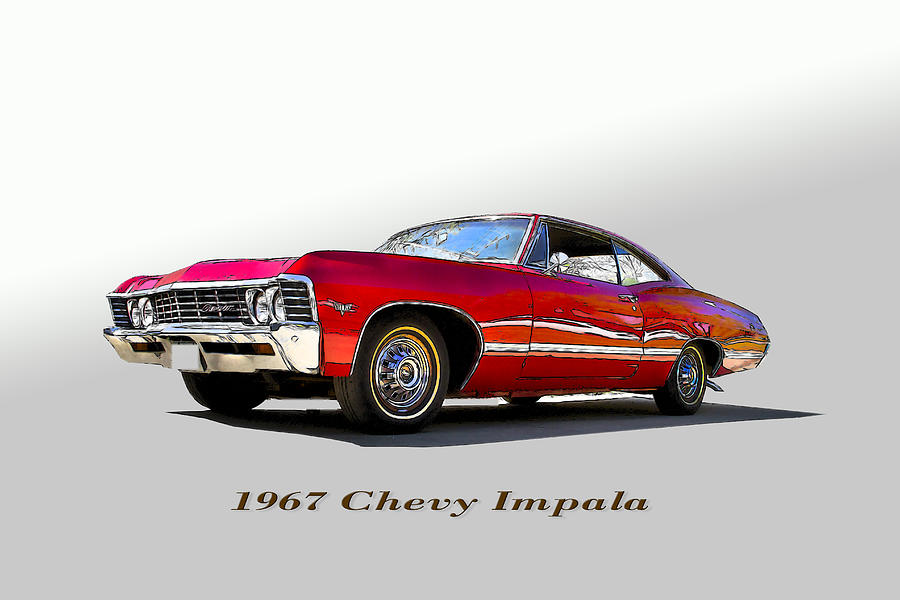 1976 Photograph - 67 Chevy by John Hix
