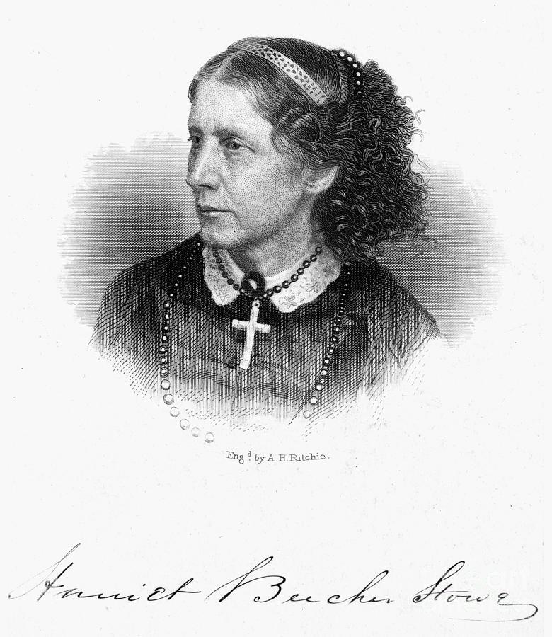 1868 Photograph - Harriet Beecher Stowe by Granger