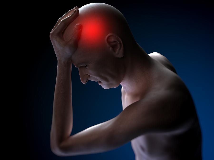 Artwork Photograph - Headache, Conceptual Artwork by Sciepro