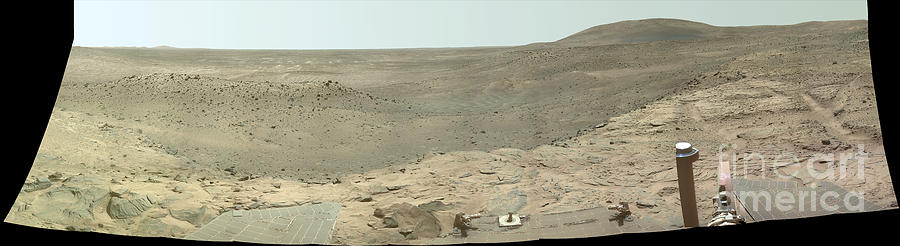 Color Image Photograph - Panoramic View Of Mars by Stocktrek Images