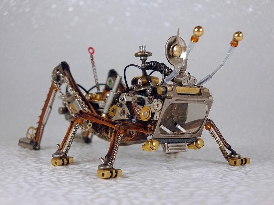 Steampunk Sculpture - Steampunk Clockpunk Mechanical Bugs by Dmitriy Khristenko