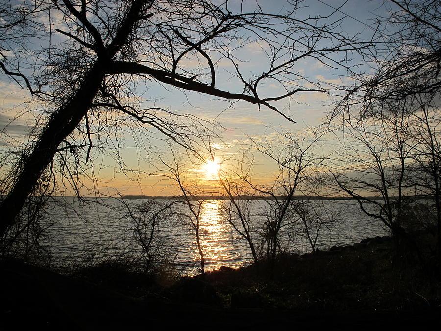 Sunset Photograph - Sunset Chesapeake Bay by Valia Bradshaw