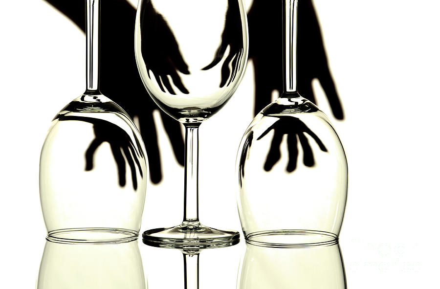 Glass Photograph - Wine Glasses  by Blink Images