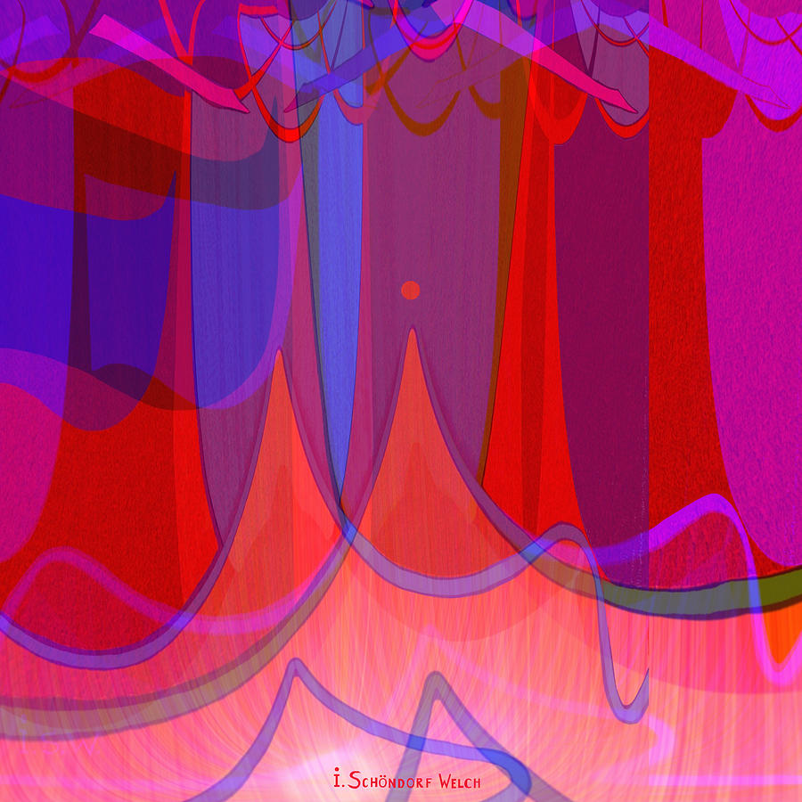 Abstract Digital Art - 702 - The Towers by Irmgard Schoendorf Welch