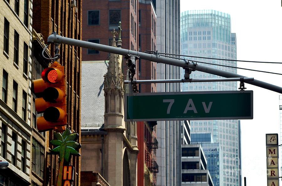New York Photograph - 7th Avenue by Pravine Chester