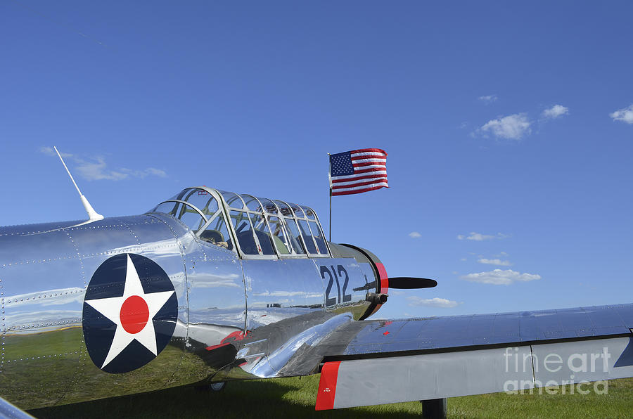 Aviation Photograph - A Bt-13 Valiant Trainer Aircraft by Stocktrek Images