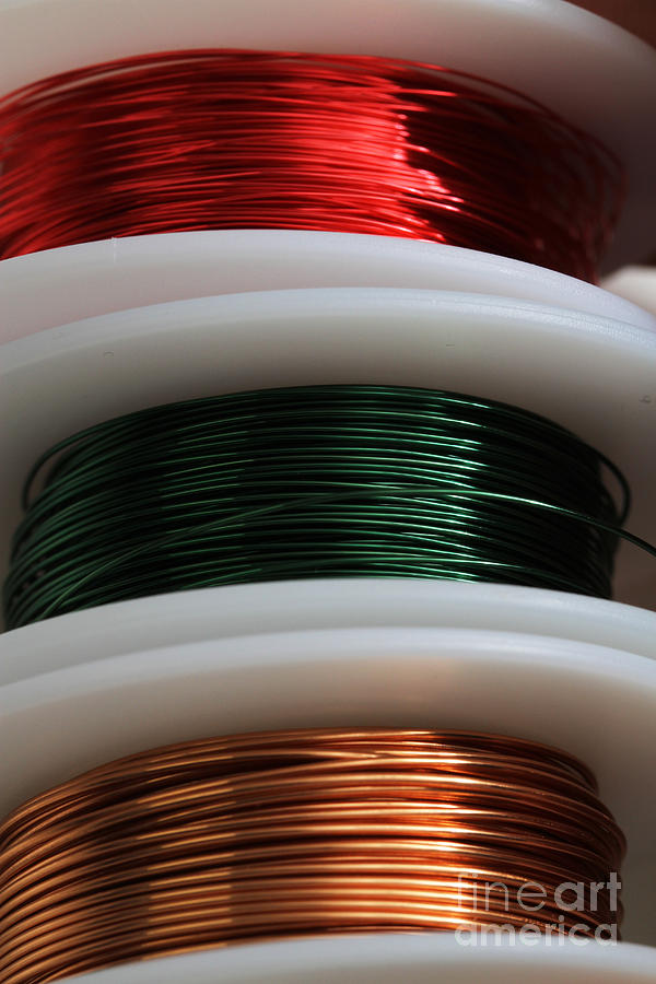 Coated Copper Wire | Enamel Coated Copper Wire Photograph By Photo Researchers Inc