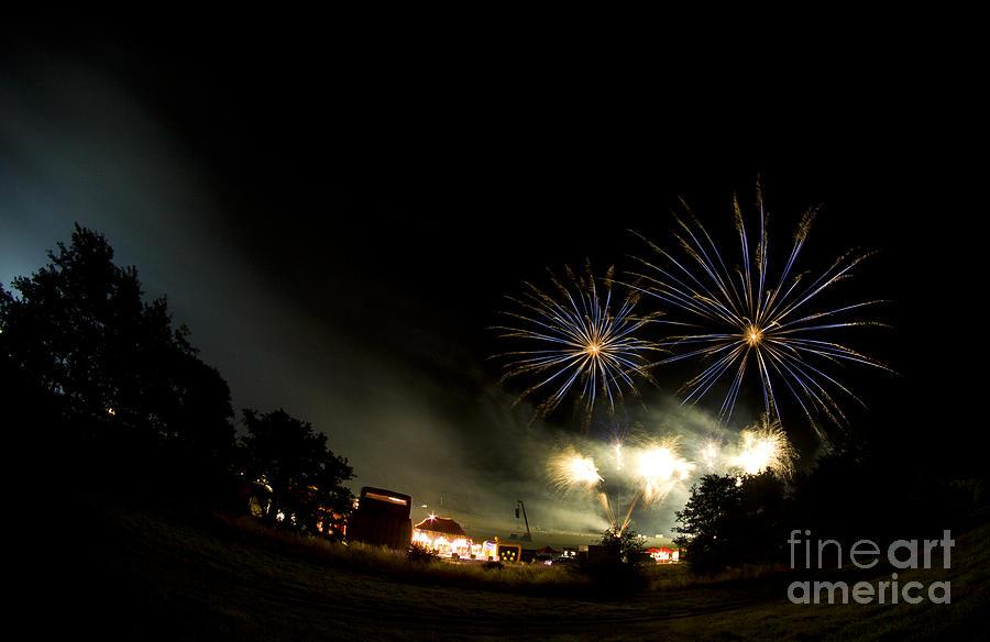 Night Photograph - Fireworks by Angel  Tarantella