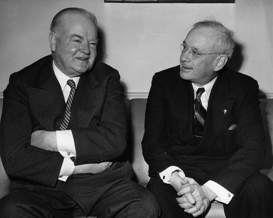 1930s Candid Photograph - Former President Herbert Hoover by Everett