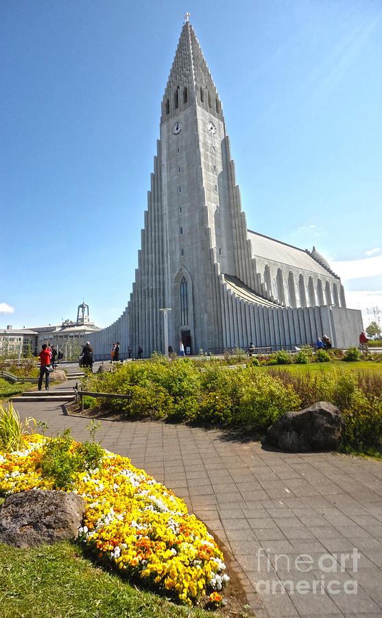 Church Photograph - Hallgrimskirkja Church - Reykjavik Iceland  by Gregory Dyer