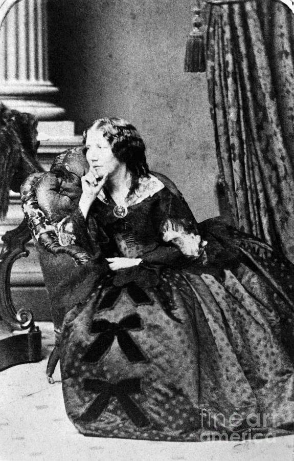 1860 Photograph - Harriet Beecher Stowe by Granger