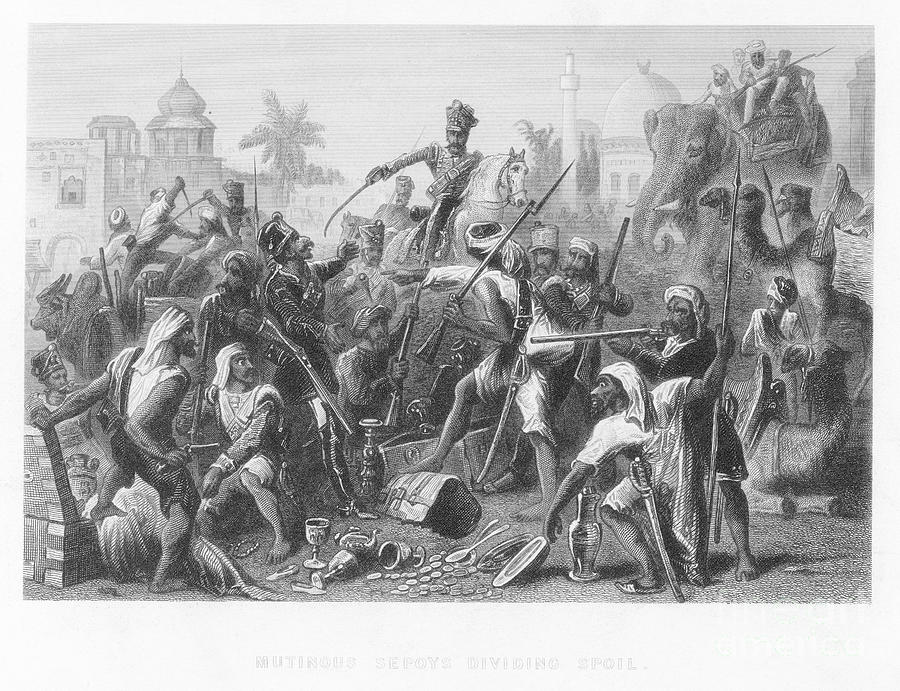india sepoy rebellion 1857 photograph by granger. Black Bedroom Furniture Sets. Home Design Ideas