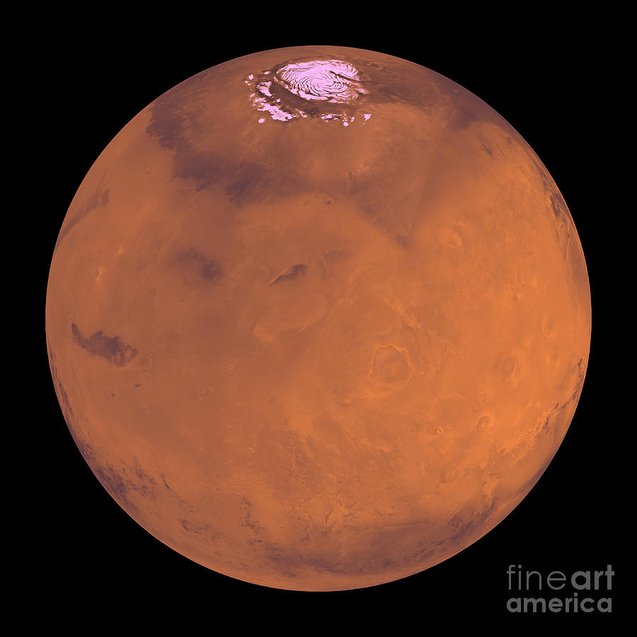 Red Photograph - Mars by Stocktrek Images