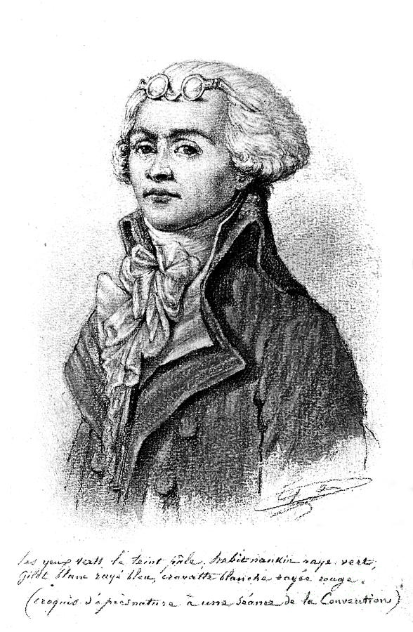 18th Century Drawing - Maximilien Robespierre  by Granger