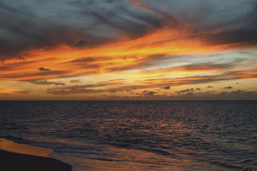 Black Photograph - North Shore Sunset by Vince Cavataio