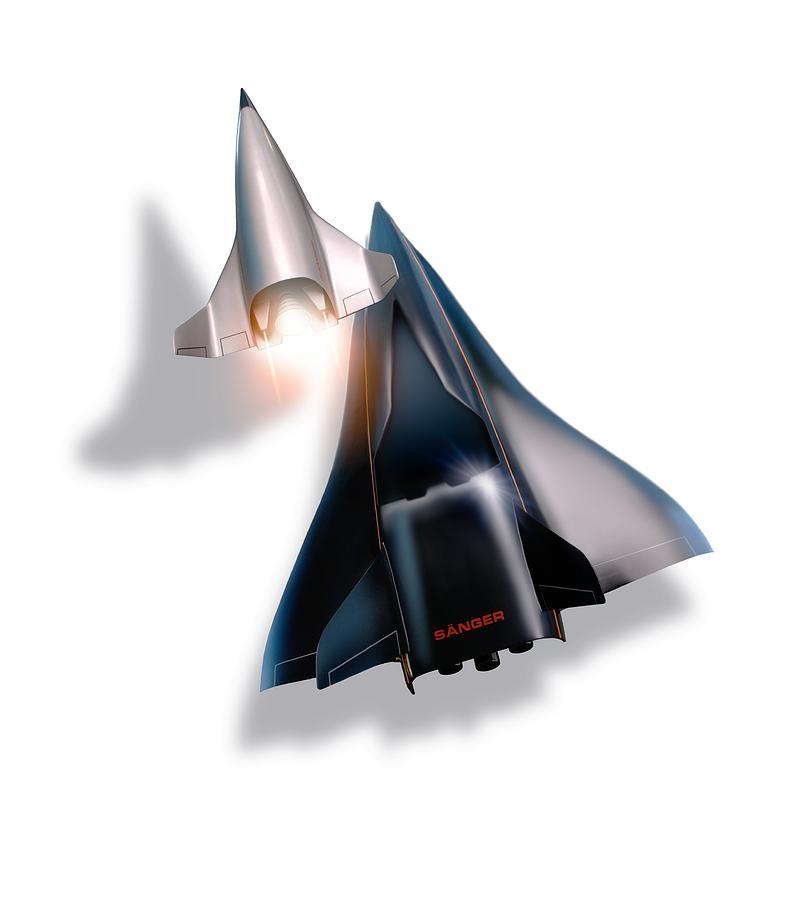 21st Century Photograph - Saenger Horus Spaceplane, Artwork by Detlev Van Ravenswaay