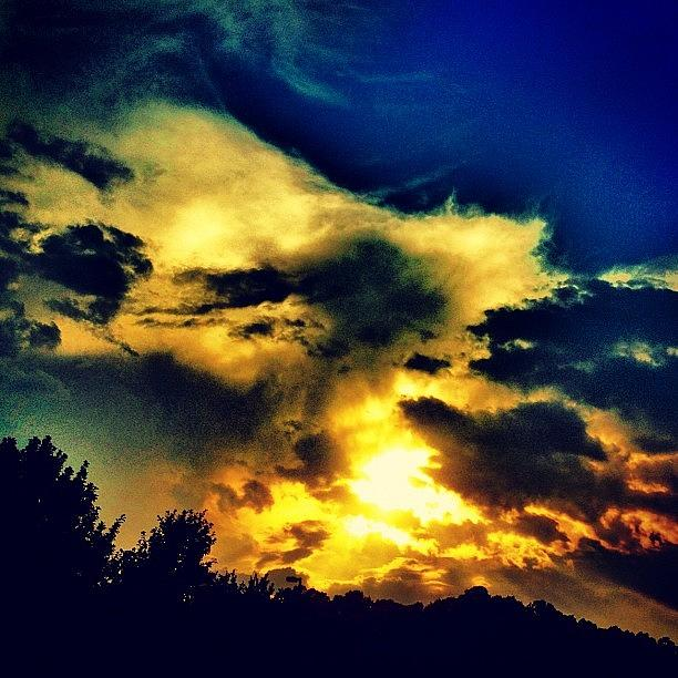 Yellow Photograph - Sunset by Katie Williams
