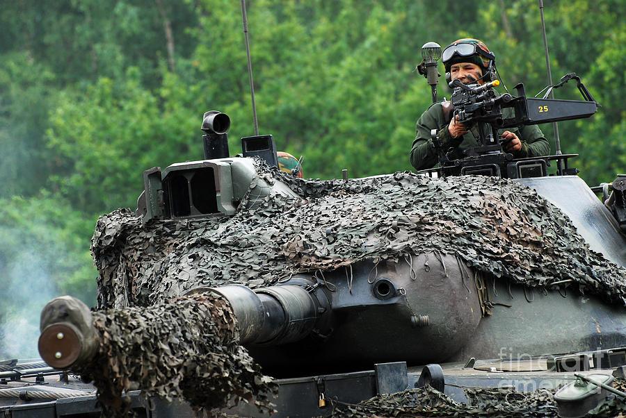 Military Photograph - The Leopard 1a5 Main Battle Tank by Luc De Jaeger