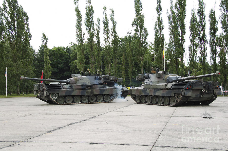 Adults Only Photograph - The Leopard 1a5 Of The Belgian Army by Luc De Jaeger