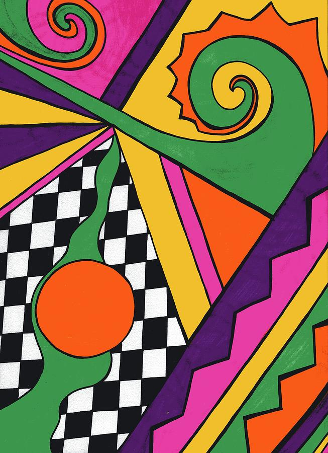 Sharpie Marker Drawing - 80s Glam by Mandy Shupp