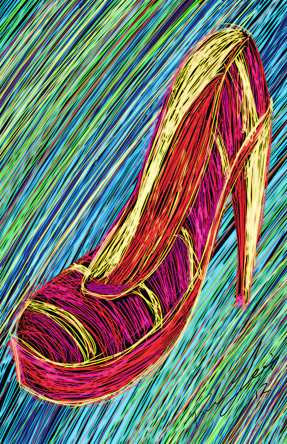80s High Heels Painting - 80s High Heels by Kenal Louis