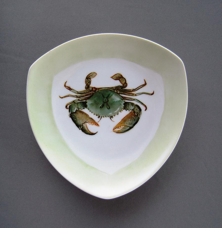 Porcelain Ceramic Art - 866 4 Part Of The Crab Set 1 by Wilma Manhardt