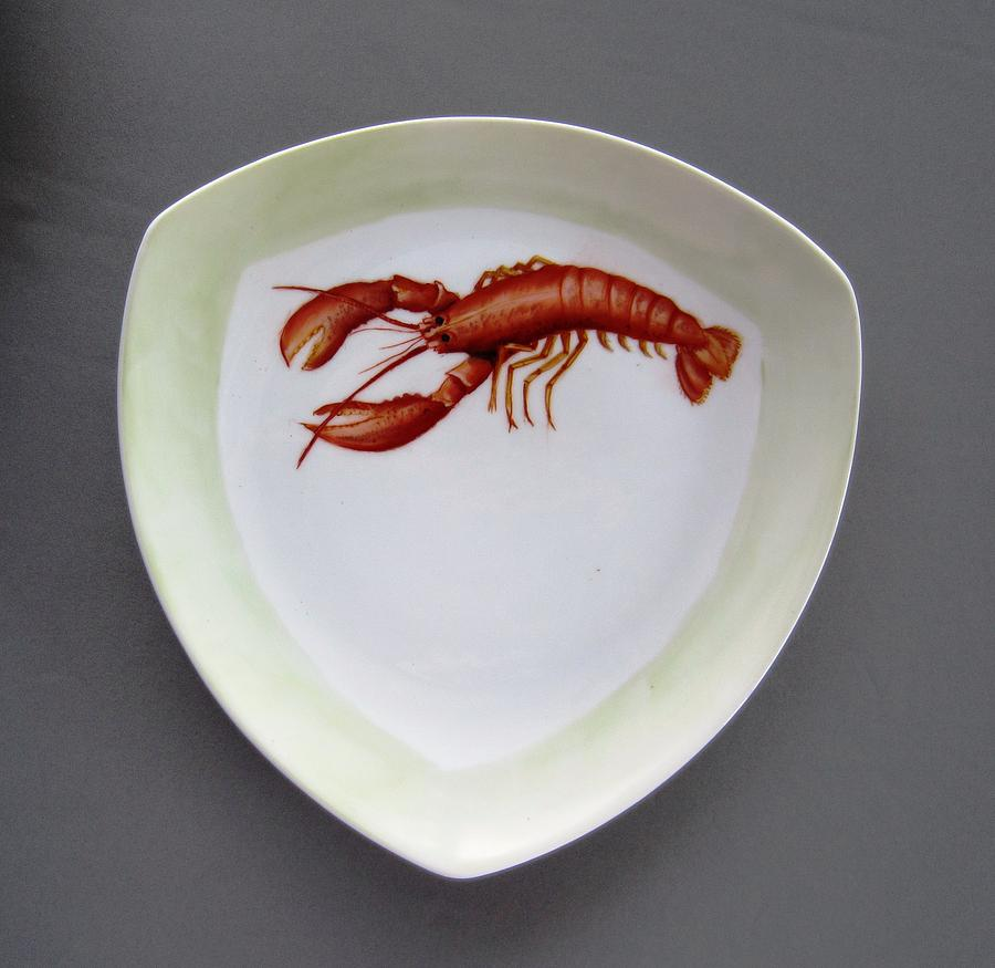 Porcelain Ceramic Art - 866 5 Part Of The Crab Set  866 by Wilma Manhardt