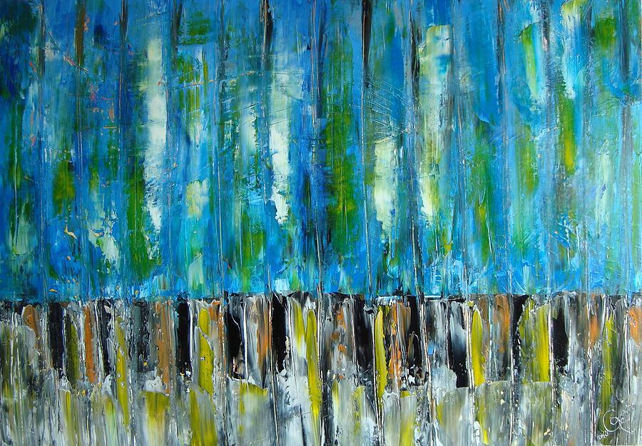 88 Keys To Heaven Painting by Gunter  Tanzerel